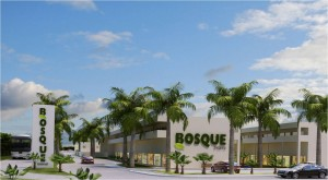 The entrance to the Bosque development