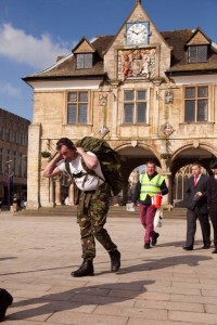 Ben Greer setting off on another leg in his fund-raising efforts